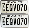 1975 Iowa pair # EQV070, Plymouth County