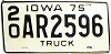 1975 Iowa Truck # AR2596, Clarke County