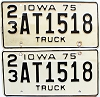 1975 Iowa Truck pair #AT1518, Clinton County