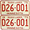1975 Minnesota Dealer pair # D26-001