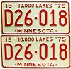 1975 Minnesota Dealer pair # D26-018