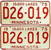 1975 Minnesota Dealer pair # D26-019