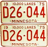 1975 Minnesota Dealer pair # D26-044