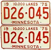1975 Minnesota Dealer pair # D26-045