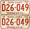 1975 Minnesota Dealer pair # D26-049