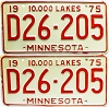 1975 Minnesota Dealer pair # D26-205