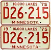 1975 Minnesota Dealer pair # D26-215