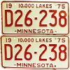 1975 Minnesota Dealer pair # D26-238
