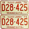 1975 Minnesota Dealer pair # D28-425