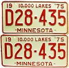 1975 Minnesota Dealer pair # D28-435