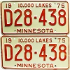 1975 Minnesota Dealer pair # D28-438