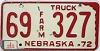 1975 Nebraska Farm Truck #327, Dawes County