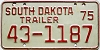 1975 South Dakota Trailer #1187, Lyman County