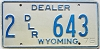 1975 Wyoming Dealer # 643, Laramie County