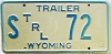 1975 Wyoming State Owned Trailer #72