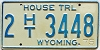1975 Wyoming House Trailer #3448, Laramie County