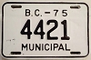 1975 British Columbia Municipal # 4421