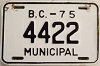 1975 British Columbia Municipal # 4422