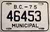 1975 British Columbia Municipal # 46453
