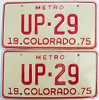 1975 Colorado Metro pair low # UP-29, Fremont County
