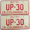 1975 Colorado Metro pair low # UP-30, Fremont County