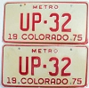 1975 Colorado Metro pair low # UP-32, Fremont County