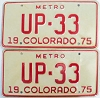 1975 Colorado Metro pair low # UP-33, Fremont County