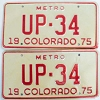 1975 Colorado Metro pair low # UP-34, Fremont County