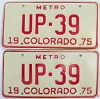 1975 Colorado Metro pair low # UP-39, Fremont County