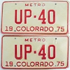 1975 Colorado Metro pair low # UP-40, Fremont County