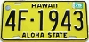 1975 HAWAII Aloha State license plate # 4F-1943