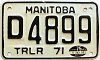 1975 Manitoba Trailer Dealer # D4899