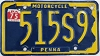 1975 PENNSYLVANIA Motorcycle license plate # 515S9