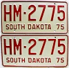1975 South Dakota Highway Maintenance pair # 2775
