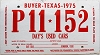 1975 TEXAS BUYER Temp Tag # P11-152