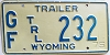 1975 Wyoming Game & Fish Trailer # 232