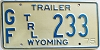 1975 Wyoming Game & Fish Trailer # 233