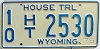 1975 Wyoming House Trailer # 2530, Fremont County