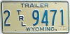 1975 Wyoming Trailer # 9471, Laramie County