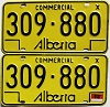 1976 Alberta Commercial pair # 309-880