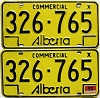1976 Alberta Commercial pair # 326-765