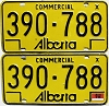 1976 Alberta Commercial pair # 390-788