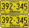 1976 Alberta Commercial pair # 392-345