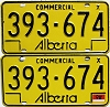 1976 Alberta Commercial pair # 393-674