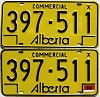 1976 Alberta Commercial pair # 397-511