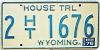 1976 Wyoming House Trailer # 1676, Laramie County