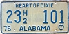 1976 ALABAMA license plate # 23H2-101