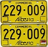 1976 Alberta Commercial pair # 229-009