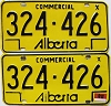 1976 Alberta Commercial pair # 324-426