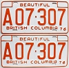 1976 British Columbia Farm Truck pair # A07-307